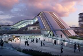 Zaha Hadid Architects: Rail Baltic Ülemiste terminal