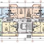 Многоквартирный 9-этажный жилой дом по ул. Пехтина в г. Глазове, УР. План типового этажа