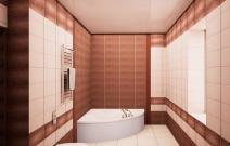 Дом 120 кв.м. Ванная.