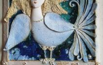 Райcкая птица. Шамот, фаянс, глина, смальта.