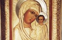 Реставрация иконы Пресвятой Богородицы.