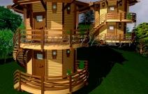 Проект сборно-щитовых домиков для базы отдыха.