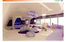 Архитектурная студия «ДГ ПРОЕКТ». Дизайн пентхауса в ЖК «Город столиц». Москва, Краснопресненская набережная, участок 9, 44-й этаж