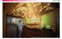 Архитектурная студия «ДГ ПРОЕКТ». Интерьер входной группы офисов «Плаза Новая Слобода». Москва