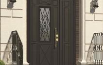 Английская классика — металлическая решетка и фрезеровка панели в стиле Brittania