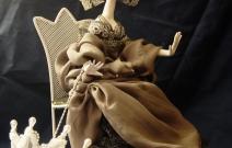 Портретная кукла - Недотрога. Цернит, текстиль. Высота 300 мм.