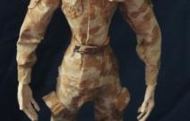 Портретная кукла - Новобранец. Цернит, текстиль. Высота 340 мм.