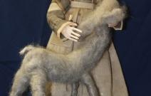 Портретная кукла - Любовь. Цернит, текстиль. Высота 270 мм.