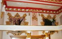 Декор лепниной интерьера в сочетании стилей барокко, роккоко.