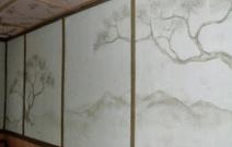 Объект № 7. Роспись стены и потолка маслом. Фрагмент интерьера.