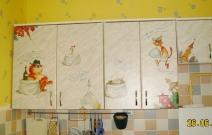 Роспись мебели в кухне. Частная квартира