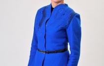 Жакет «Ультрамарин» условно цельноваляный с элементами нунофелтинга.