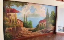 Частный коттедж. Роспись стен