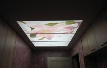 Световой короб на потолке.