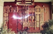 Магазин «Охота». Ижевск. Дерево, шнур, металл.