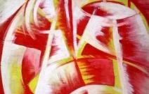 Красный халат и апельсин