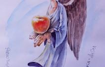 «Лёнька Ангел», бумага, акрил