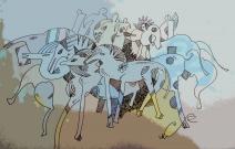 Синие кони
