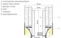 «Линия света»: профиль для светящегося плинтуса и встраиваемых светильников. Рекомендуемая схема монтажа
