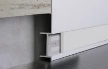 «Линия света»: встраиваемый плинтус, белая ПВХ-вставка