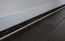 «Линия света»: встраиваемый плинтус, черная ПВХ-вставка
